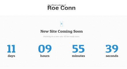 RoeConn.com New Website Countdown