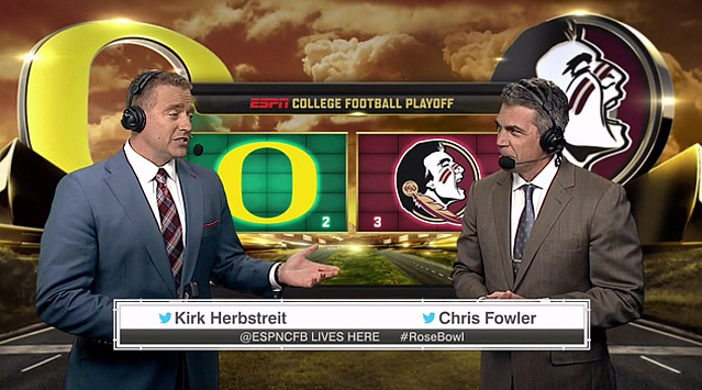 New ESPN graphics - 2015 College Bowl Playoff